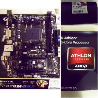 全新未拆封AMD 4X 860K 與 二手過保主機板 技嘉GA-F2A78M-DS2
