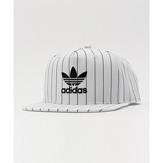 日本限定 ADIDAS AC CAP TREFOIL FLAT 白底線條棒球帽