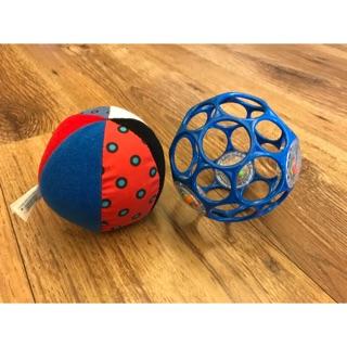 (二手)Oball沙沙洞洞球和軟質布球寶寶玩具