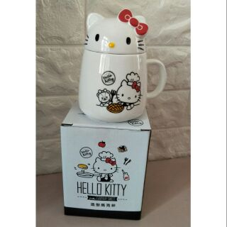 85度c Hello kitty造型馬克杯(白杯)