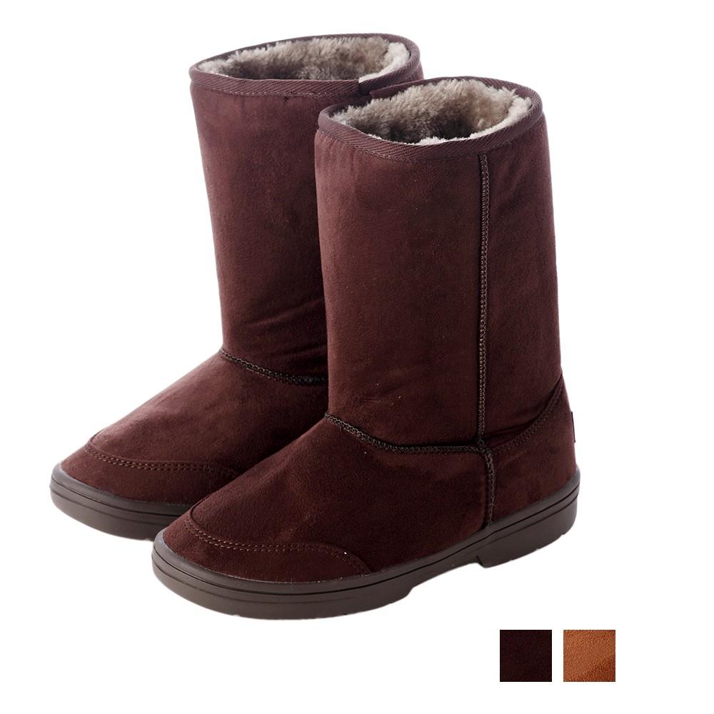 【T2R】秋冬韓系女孩必備經典款內裡毛茸茸雪靴 內增高↑7cm 咖啡/棕
