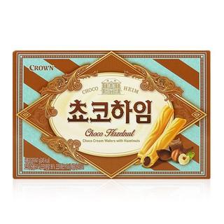 現貨 韓國限定 CROWN 榛果巧克力/白巧克力榛果 288g 威化餅 威化酥 夾心酥