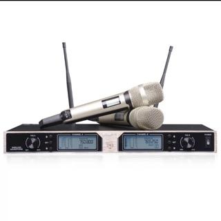 SKM-9000無線麥克風超高頻ktv  鋁合金U段可調頻無線麥克風