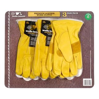 真皮工作手套 三入裝 costco 好市多 L號 Wells Lamont leather glove