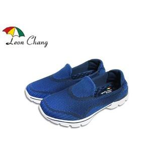 @51號店鋪@ Leon Chang 雨傘牌 健走鞋 鞋  跑鞋 男鞋 懶人鞋 便鞋 運動鞋 避震 紓壓 藍色
