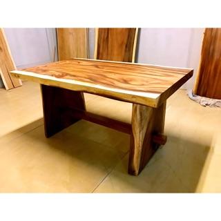 A.H.柚木- 印尼胡桃木150大板桌(含腳)原木 實木 胡桃木 獨板桌 原木板 大板桌 餐桌 自然風餐桌 自然邊餐桌