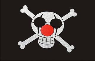 街頭麻糬【小丑 巴基】海賊王 卡通 海盜 3M反光貼紙