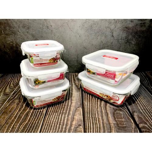 *Ju寶庫* 樂扣樂扣 LOCK&LOCK 微波烤箱方型玻璃保鮮盒 微波便當盒 耐熱玻璃保鮮盒 LLG205 300ML
