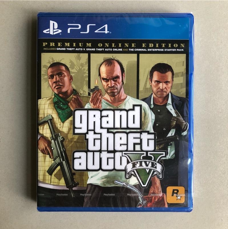 現貨全新未拆 PS4遊戲 GTA5 俠盜獵車手5 中文版 GTA 5 Grand Theft Auto V