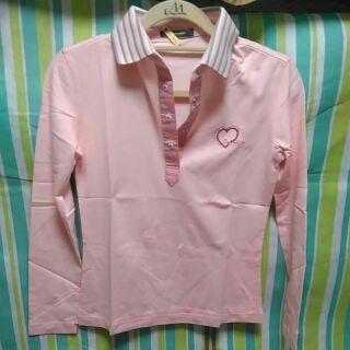 crocodile粉紅色POLO衫