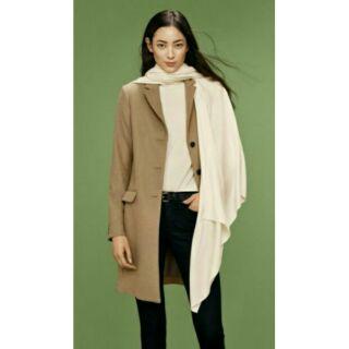 Uniqlo羊毛喀什米爾混紡徹斯特大衣100%羊毛