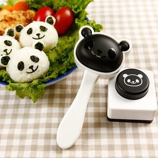 現貨~熊貓飯糰模具套裝 創意可愛壽司材料工具海苔夾紫菜壓花器