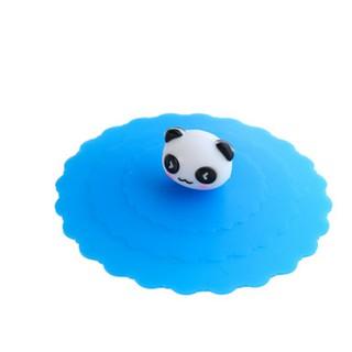 創意卡通環保食品矽膠杯蓋可愛防塵防漏多功能杯蓋密封水杯蓋