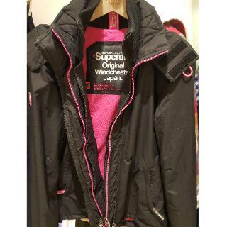 Superdry 極度乾燥女版外套 防風外套 三層 M號