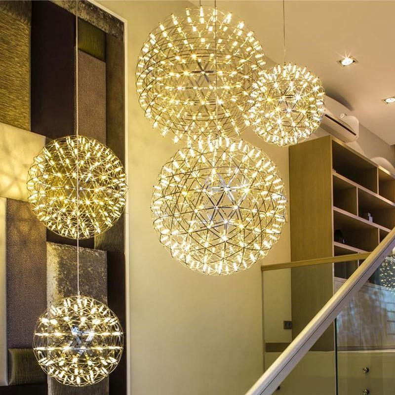 北歐弔燈客廳燈具餐廳創意臥室個性球形工業風後現代火花球簡約燈