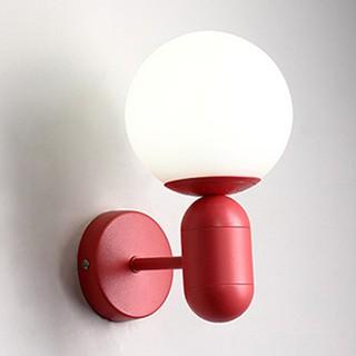 北歐風格色彩創意個性現代簡約客廳過道臥室床頭燈具馬卡龍裝飾小壁燈龍珠泡陽臺鐵藝壁燈棒棒糖造型壁燈