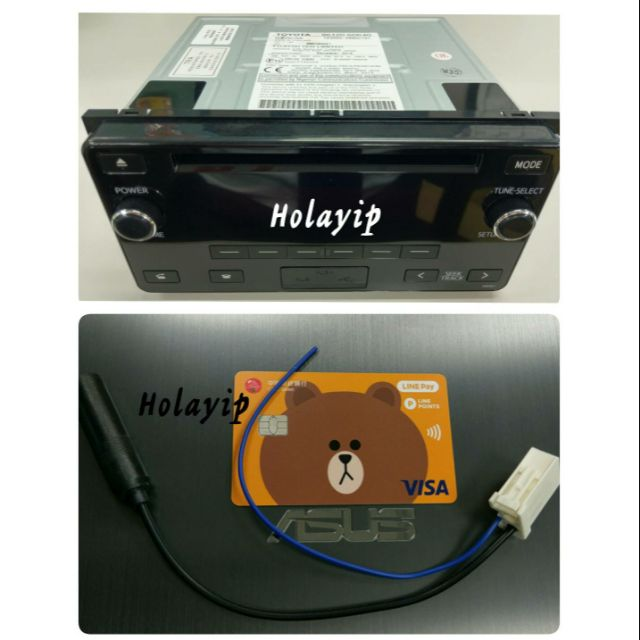 送天線轉接頭 保固 TOYOTA 富士通 原廠 藍芽音響 主機 USB MP3 CAMRY WISH VIOS RAV4