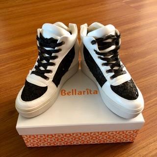 專櫃女鞋Bellarita 蕾絲內增高休閒鞋