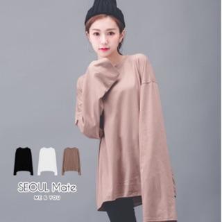轉賣 首爾妹韓國超長袖素面上衣SEOUL MATE