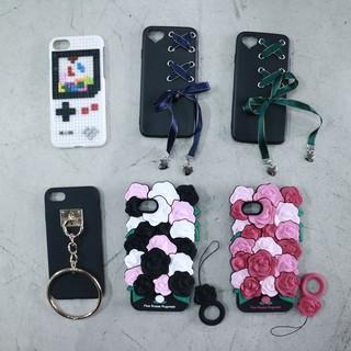 gameboy樂高/蝴蝶結綁帶/圓環/玫瑰造型手機殼
