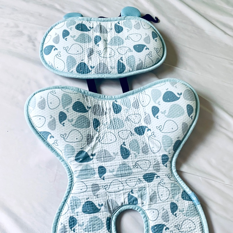 近新出清 公司貨 Baby muffin嬰兒推車涼墊 藍鯨魚款