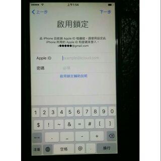 賣i6 16g灰色 鎖Id 單手機 零件機