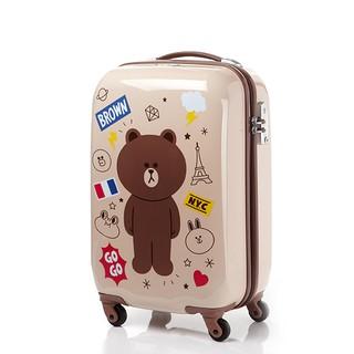 %23預購%23 韓國代購『Samsonite RED新秀麗 X Line Friends聯名 熊大 20吋行李箱』李鍾碩代言