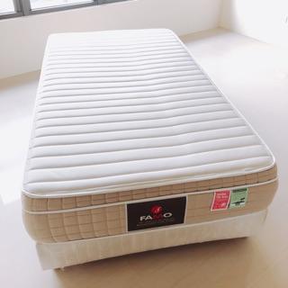 法國Famo 單人床墊 床組 乳膠 麵包床 含床箱
