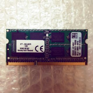金士頓 Kingston DDR3L 1600 8GB 記憶體 KTT-S3CL/8G