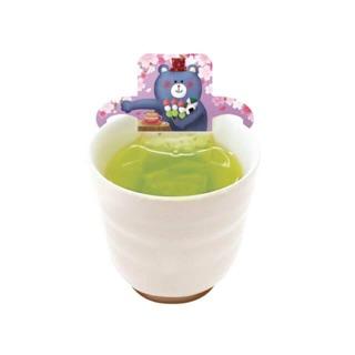 預購 日本春季限定 小動物杯緣櫻花綠茶3入組