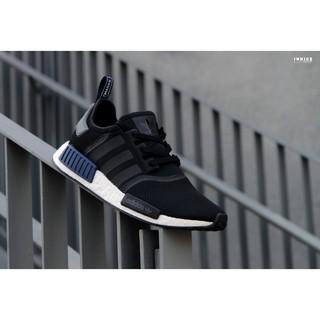台灣未發 Adidas Originals NMD_R1 S76841 男性運動休閒鞋 黑藍配色
