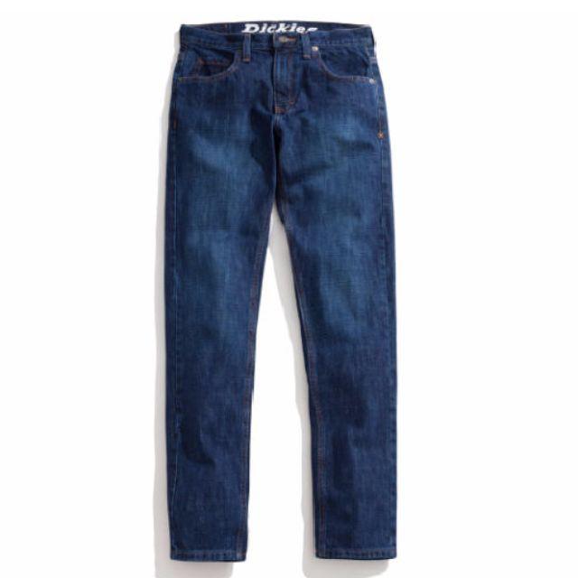 Dickies 合身窄版牛仔褲/牛仔長褲/丹寧/修身版型/工作褲/ 13oz重磅數 深色/淺色美國經典品牌 XD710