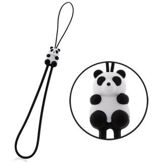 熊貓吊繩-白/吊繩/手機吊繩/頸繩/環保/抗靜電/伸縮彈性/承重/柔軟/手機繩