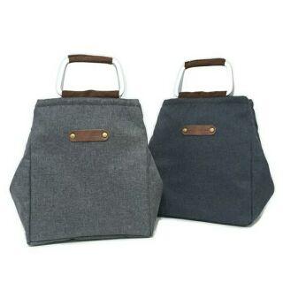 商務保溫保冷便當袋 帆布 灰 藍 綠 灰白 包 男 現貨 預購 環保袋 飲料袋 帆布袋 野餐袋 商務包