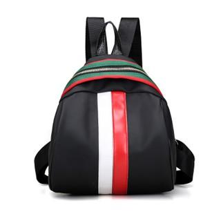 爆款女士包包牛津布撞色彩條雙肩背包包純色小清新手提單肩包旅行包 背包書包旅行包休