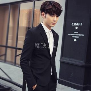 時尚韓版男裝2016春季新款男士粉色小西裝潮修身休閑西服外套 男