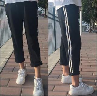 韓版條紋運動褲長褲 另賣寬褲棉麻襯衫雪紡蕾絲連身褲長洋裝外套