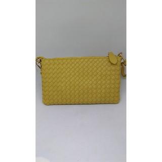 萊姆黃編織小包
