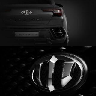 韓國 起亞BRENTHON 車標裝飾貼電鍍銀爪標ix45 新TUCSON ix35 ELA