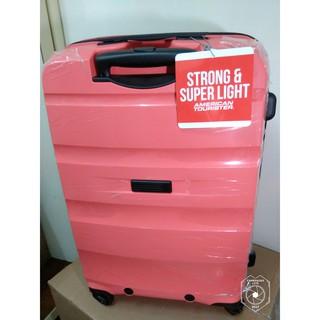 AT美國旅行者,24吋,64L紅PP材質(聚丙烯),Bon-Air系列可擴充新秀麗,Samsonite,行李箱,超輕免運
