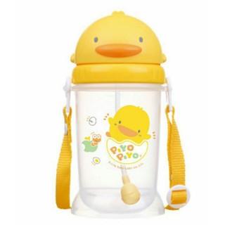 黃色小鴨 自動吸管PP滑蓋水壺350ml-83508