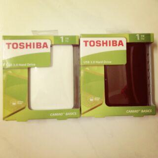 【TOSHIBA 黑靚潮 白靚潮 1TB】USB3.0 2.5吋行動硬碟(A2)黑色白色V8可參考