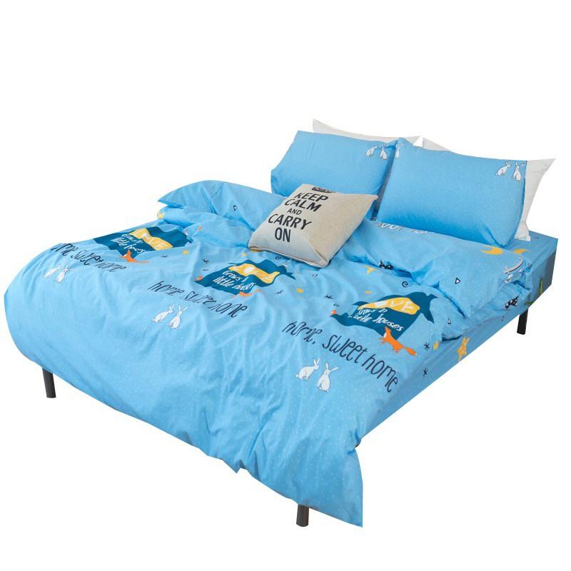 eyah宜雅 台灣製CB系列細纖舒適蜜磨絨單雙人加大床包枕套三件組 蝦皮24h