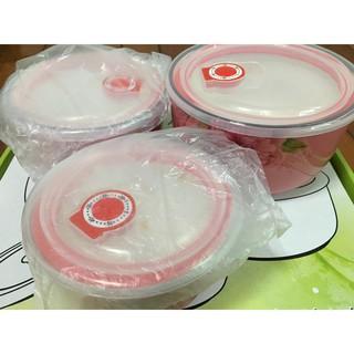 3PCS 保鮮碗 密封碗 微波碗 餐碗 3入