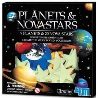 用心生活 4M 螢光太陽系貼片 Glow Planets & Nova Star in Box 夜光 星空 壁貼