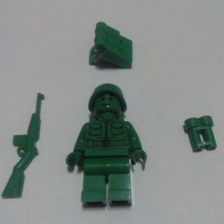 SY 積木 人偶 玩具總動員 綠色 小兵 步兵 徵兵