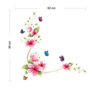 現貨 PVC浴室牆貼海報貼紙花蝴蝶裝飾
