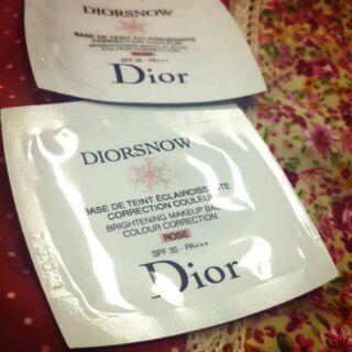 全新Dior潤色隔離妝前乳(玫瑰粉)試用包包70信5元