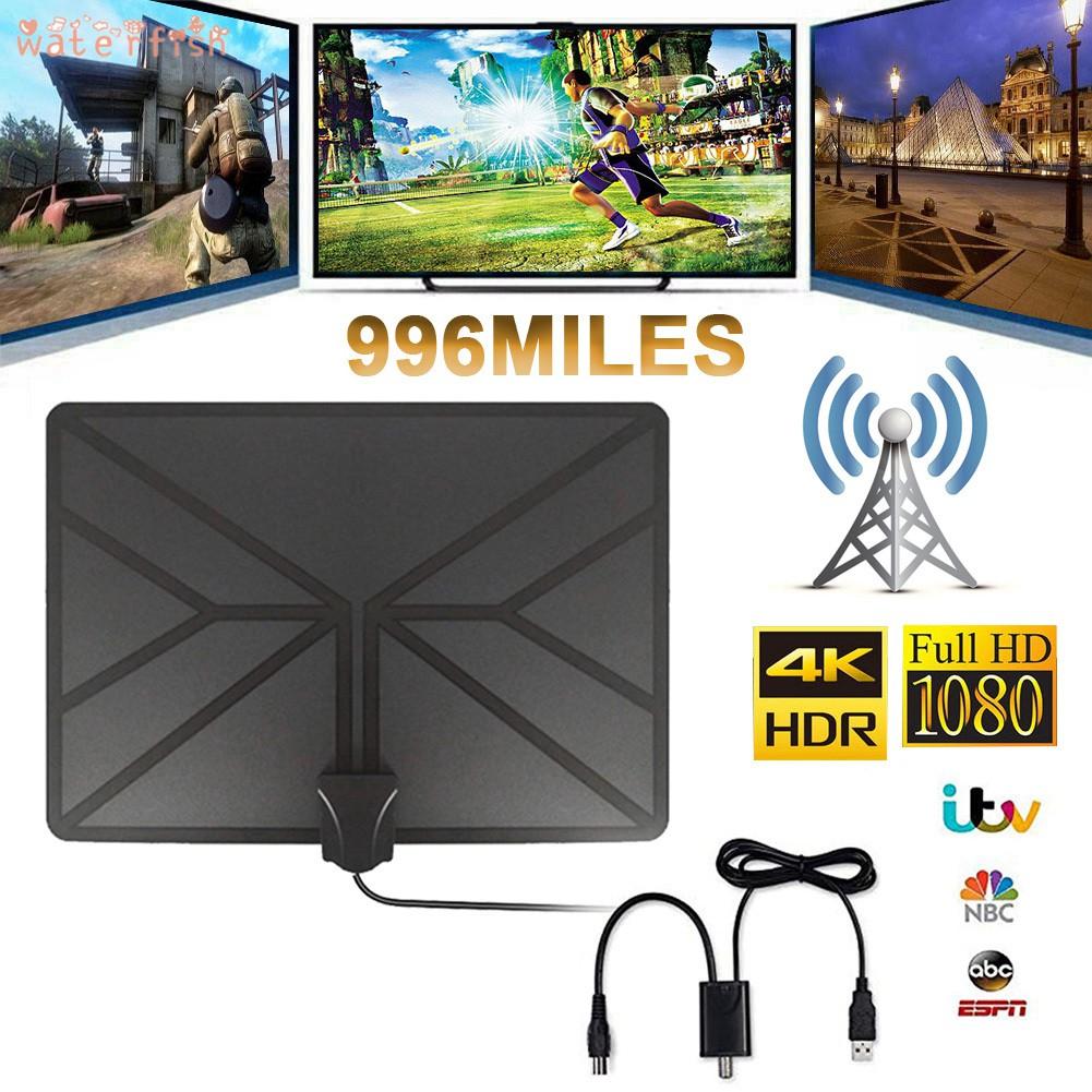 室內電視天線高清電視天線放大器996英里4K DVB-T電視天線