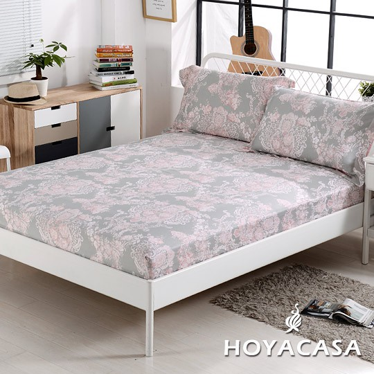 《HOYACASA桃樂絲》雙人/加大/特大親膚極潤天絲床包枕套三件組